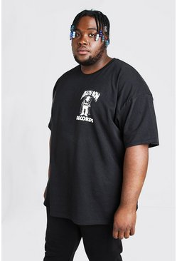 T-shirt Death Row Records big and tall, Noir