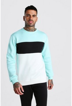 Sweat colour block, Menthe