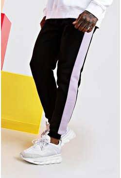 Skinny Fit Jogger With Side Panel, Lilac