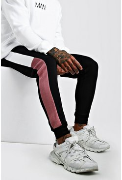 Skinny Fit Colour Block Jogger, Mauve