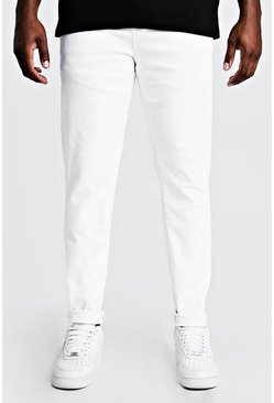 Jeans skinny Big & Tall, Blanco