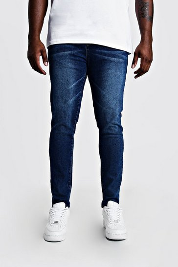 Mid blue Big & Tall Skinny Fit Jeans