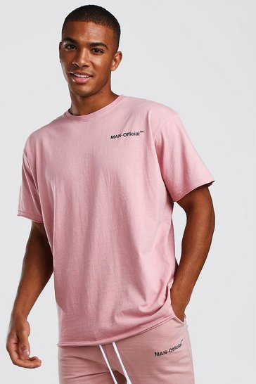 Mauve Loose Fit Man Official T-Shirt
