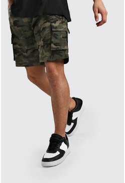 Camo Cargo Slim Fit Woven Shorts