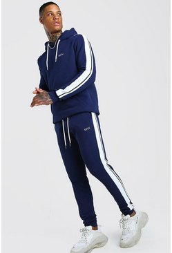 Navy Original MAN Hooded Tracksuit With Tape Detail