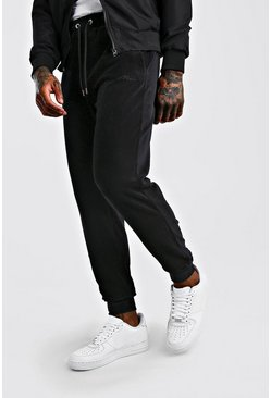Black MAN Signature Regular Fit Cord Jogger