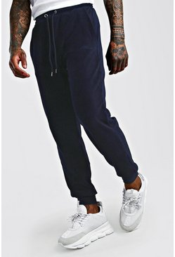 Navy MAN Signature Regular Fit Cord Jogger
