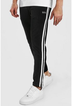 Black Original MAN Cord Tapered Jogger With Tape