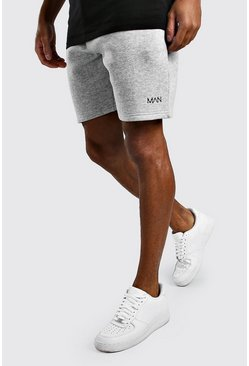 Original MAN Loose Fit Jersey Shorts, Grey marl