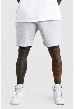 Grey marl Basic shorts i jersey med ledig passform
