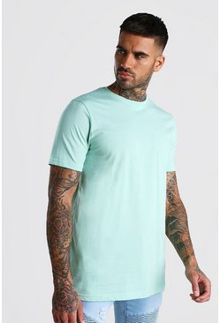 T-shirt long, Menthe