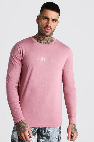 Mauve MAN Signature Long Sleeve T-Shirt