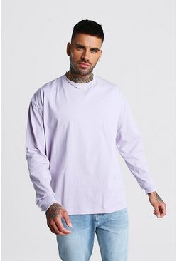 Lilac Oversized Long Sleeve T-Shirt