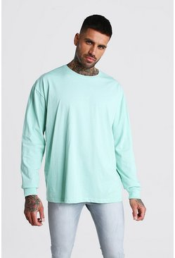 Mint Oversized Long Sleeve T-Shirt