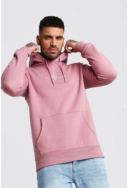 Mauve MAN Signature Embroidered Hoodie