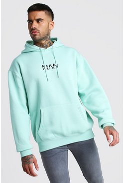 Mint Oversized Original MAN Print Over The Head Hoodie