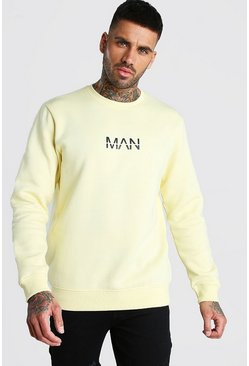 Sweat en polaire imprimé MAN Original, Jaune