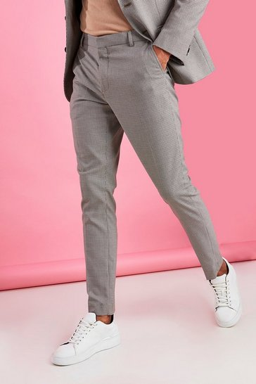Stone Skinny Fit Puppytooth Trouser
