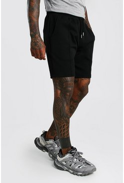 Black MAN Signature Shorts i scuba med veck