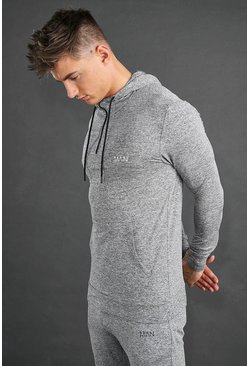 Grey MAN Active Yoga Funnel Neck Hoodie