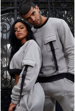 Stone His Utility Sweater Tracksuit With Buckles