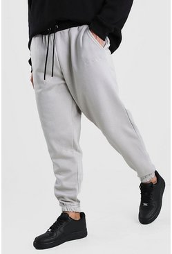 His Loose Fit Jogger With Contrast Waistband, Stone
