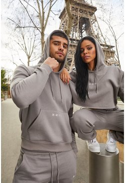 Mushroom His Cropped Hooded Tracksuit With Embroidery