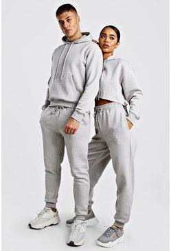 Stone His Cropeed Hooded Tracksuit With Embroidery