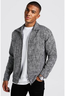 Smart Salt & Pepper Coach Jacket, Black