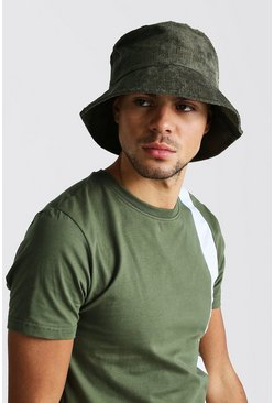 Bucket-Hut aus Cord, Khaki