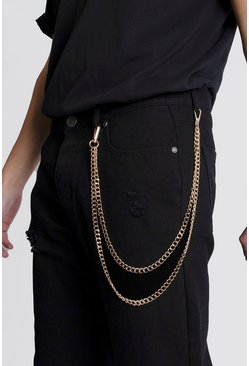 Gold Double Layer Jeans Chain