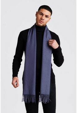 Oversized Brushed Scarf , Charcoal