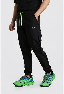 Original MAN Shell Buckle Jogger With Drawcords, Black