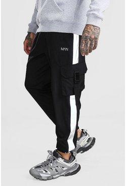 Original MAN Shell Buckle Jogger With Panel, Black