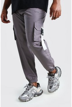 Pantalones de correr con hebilla de shell MAN Big And Tall, Gris marengo