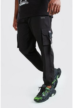 Pantalones de correr con hebilla de shell MAN Big And Tall, Negro
