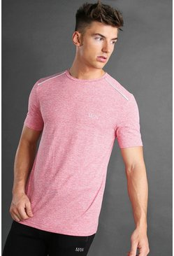 Red MAN Active Marl T-Shirt With Reflective Detail