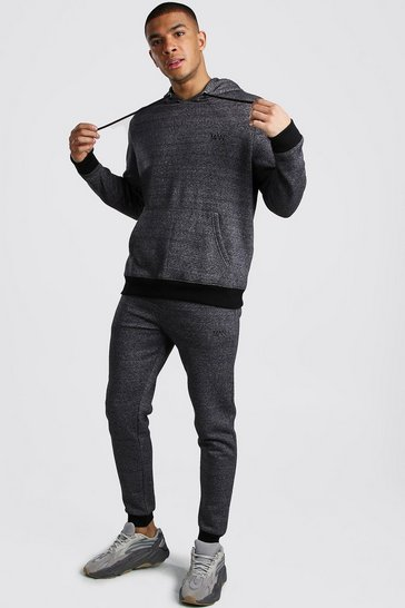 Charcoal Original MAN Melange Hooded Tracksuit