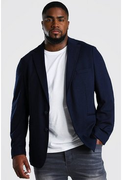 Navy Big & Tall - Blazer i jersey