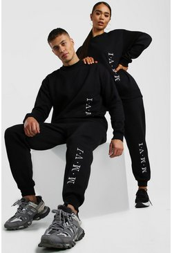 Black Her Embroidered Sweat Tracksuit