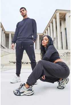 Black Her Cut Out Sweat And Jogger Set