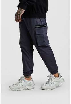 Dark grey Contrast Cargo Pocket Jogger Trouser