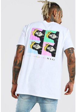 Oversized Biggie Warhol License T-Shirt, White
