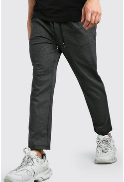 Scuba Dropped Crotch Trouser, Charcoal