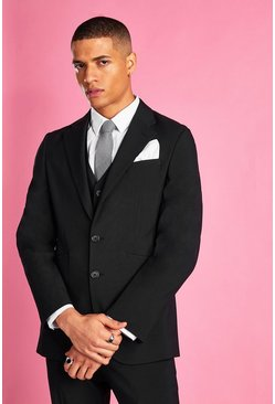 Slim Fit Blazer, Black