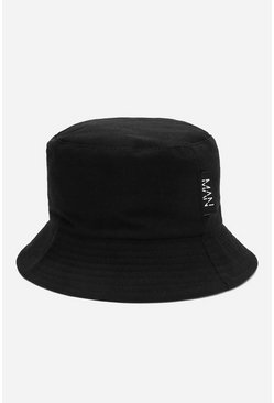 Black MAN Dash Tab Bucket Hat