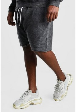 Big And Tall MAN Official Raw Hem Short , Charcoal