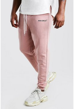Big And Tall MAN Official Heavyweight Jogger , Mauve