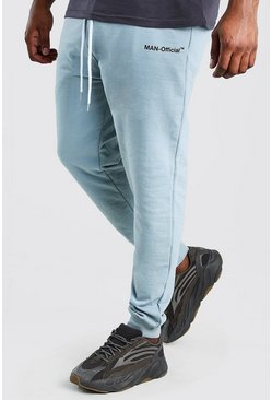 Blue Big And Tall MAN Official Heavyweight Jogger