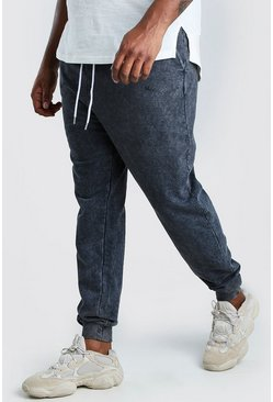 Big And Tall MAN Official Heavyweight Jogger, Charcoal